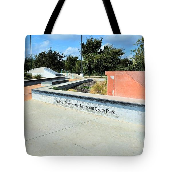 Tote Bag featuring the photograph Skate Park by Ray Shrewsberry