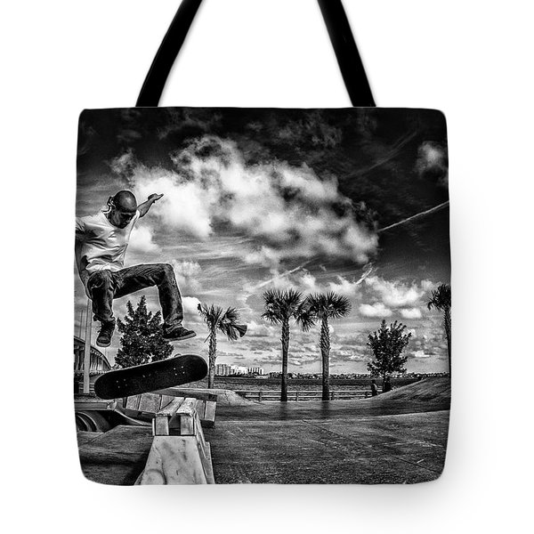 Skate Pushing The Boundries Tote Bag