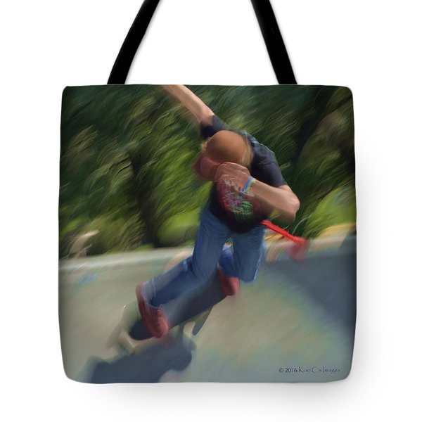 Skateboard Action Tote Bag
