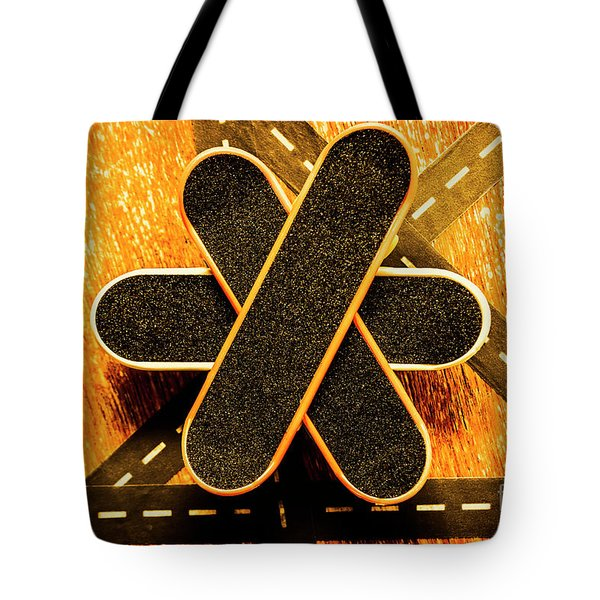 Skateboarding Star Tote Bag