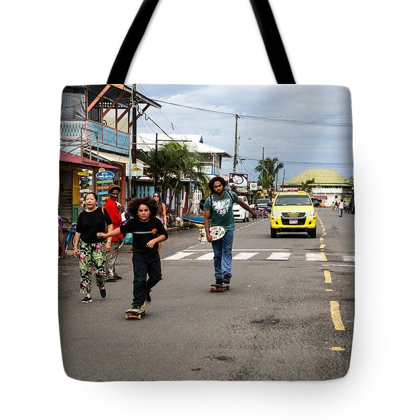 Skateboarding With Dad Tote Bag