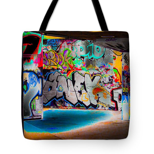 Skatepark Graffiti Southbank 3 Tote Bag