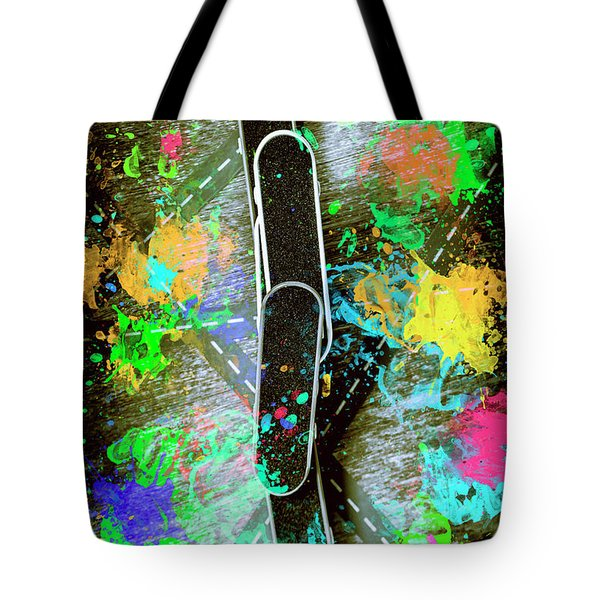 Skating Pop Art Tote Bag