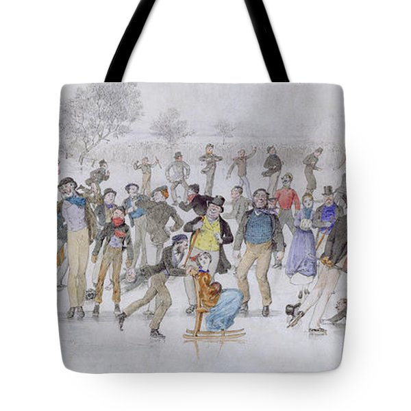 Skating Scene Tote Bag