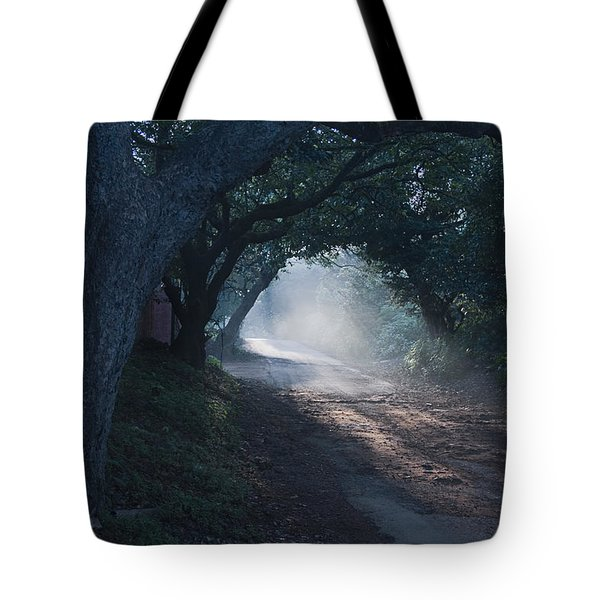 Skc 4671 Road Towards Light Tote Bag