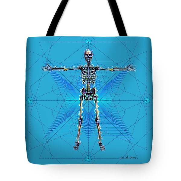 Skeletal System Tote Bag by Iowan Stone-Flowers