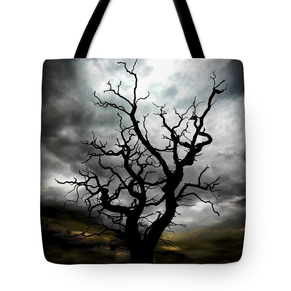 Skeletal Tree Tote Bag by Meirion Matthias