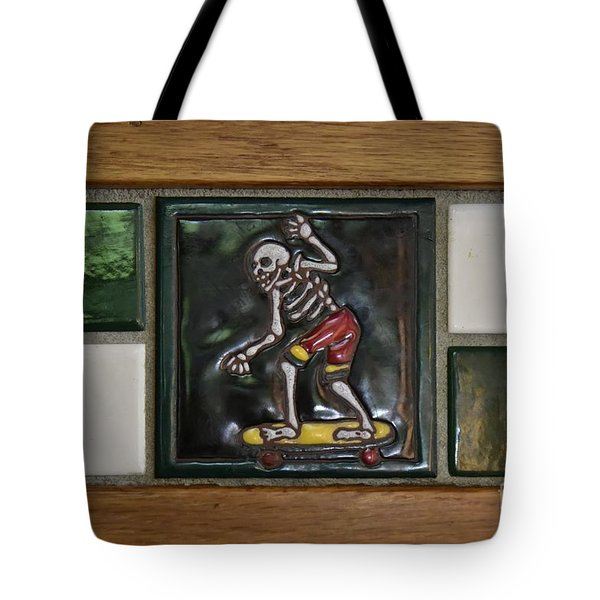 Skeleton On Wheels Tote Bag