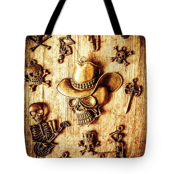 Skeleton Pendant Party Tote Bag
