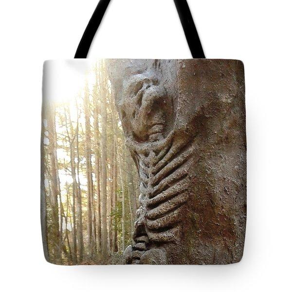 Skeleton Tree Tote Bag