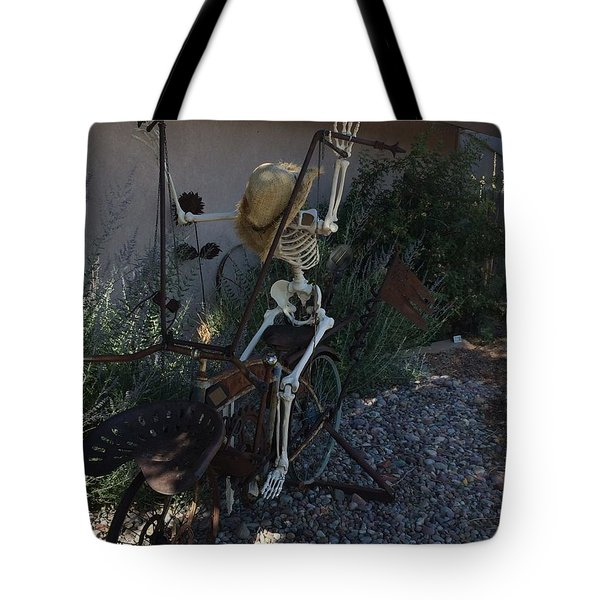 Skeleton's Bike Ride  Tote Bag