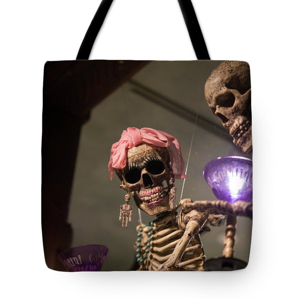 Tote Bag featuring the photograph Skeletons Of Carmel by Lora Lee Chapman