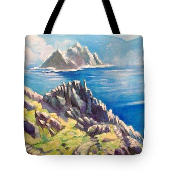 Skelligs County Kerry Ireland Tote Bag by Paul Weerasekera