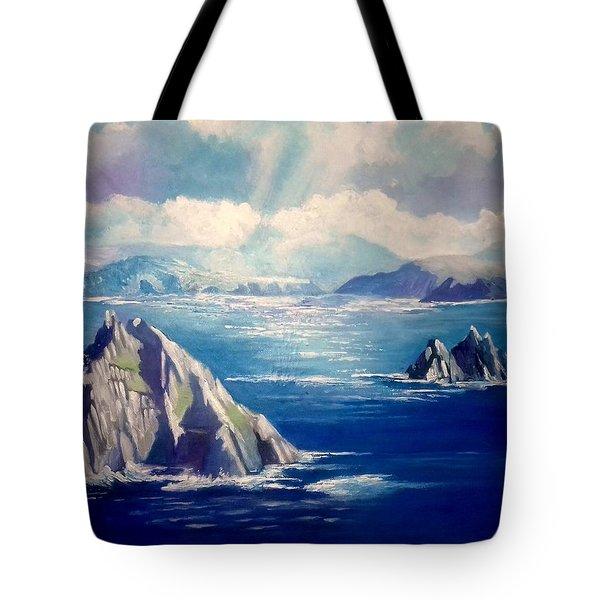 Skelligs Ireland Tote Bag by Paul Weerasekera