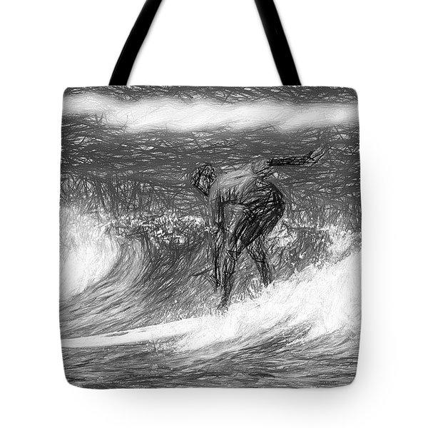 Sketch A Wave Tote Bag