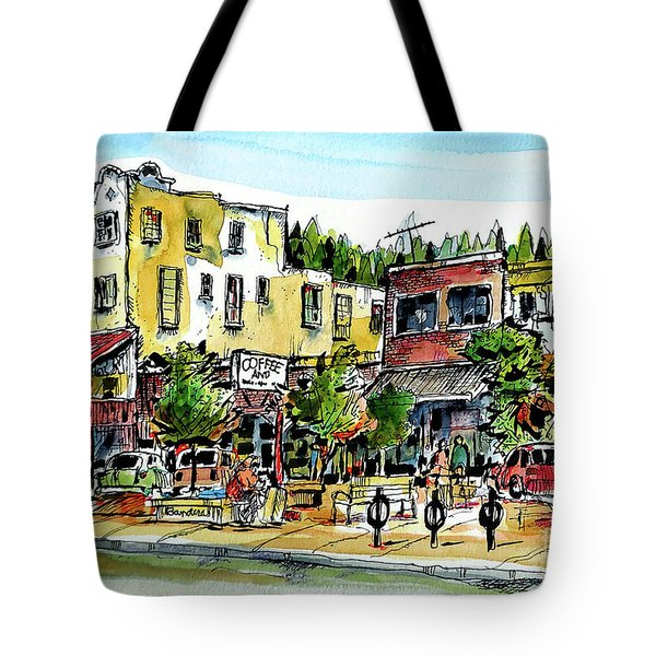 Tote Bag featuring the painting Sketch Crawl In Truckee by Terry Banderas