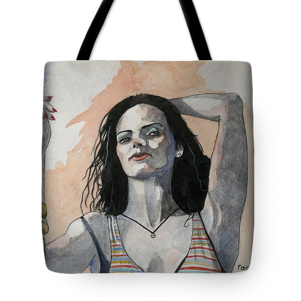 Sketch For Lucy Tote Bag by Ray Agius