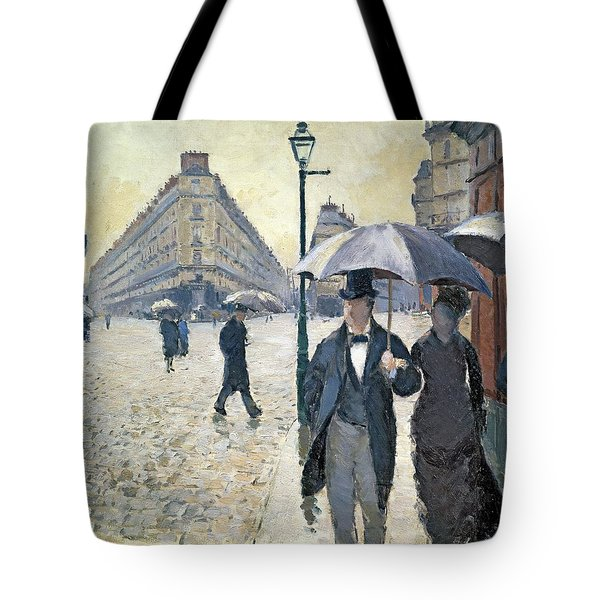 Sketch For Paris A Rainy Day Tote Bag by Gustave Caillebotte