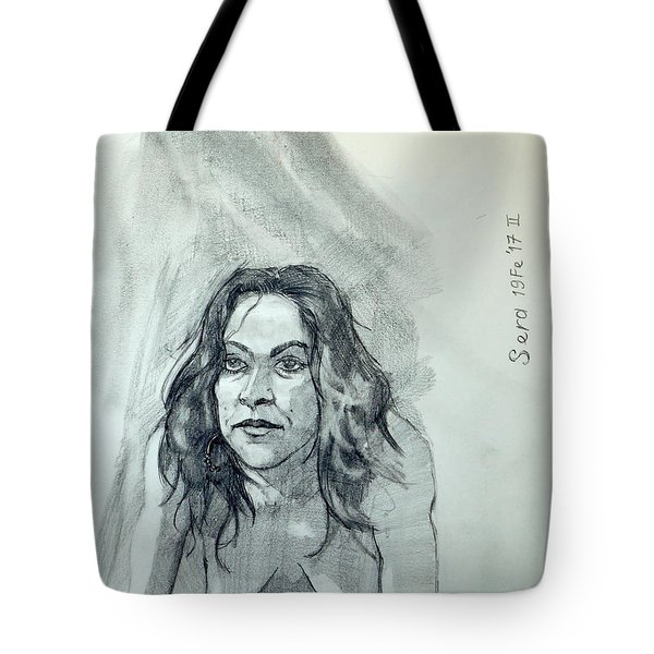 Sketch For Sera.10.01 Tote Bag by Ray Agius