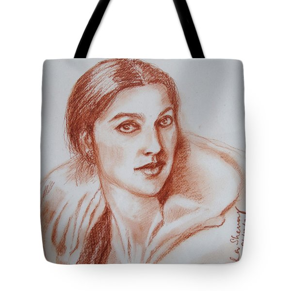 Sketch In Conte Crayon Tote Bag