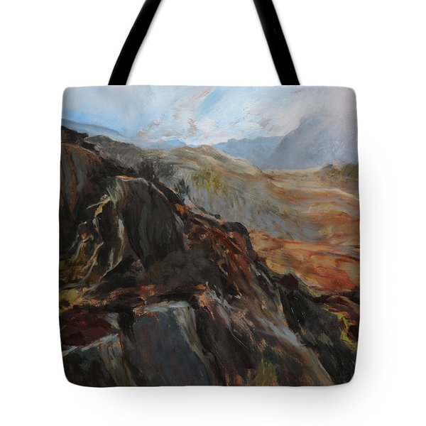 Sketch In Snowdonia Tote Bag
