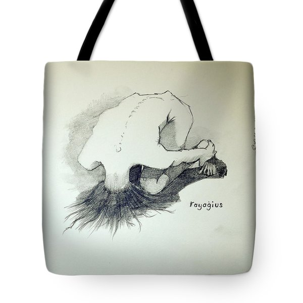 Tote Bag featuring the painting Sketch Of Sera.10.03 by Ray Agius