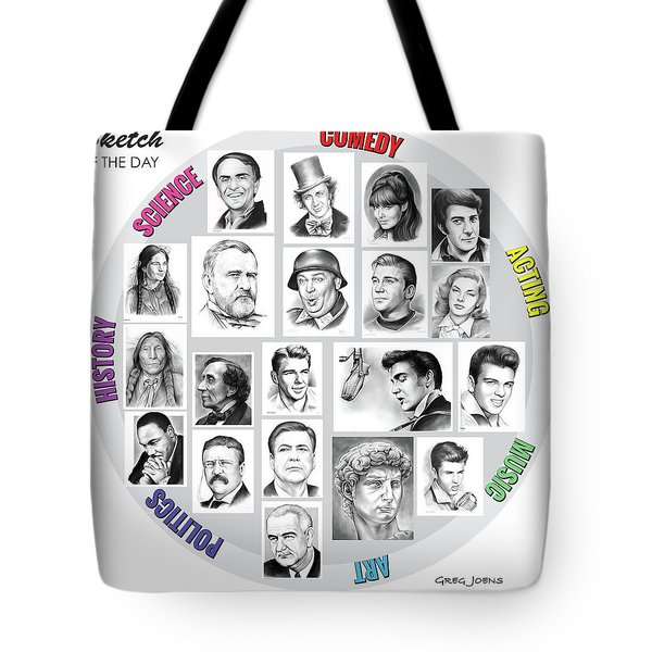 Sketch Of The Day Tote Bag