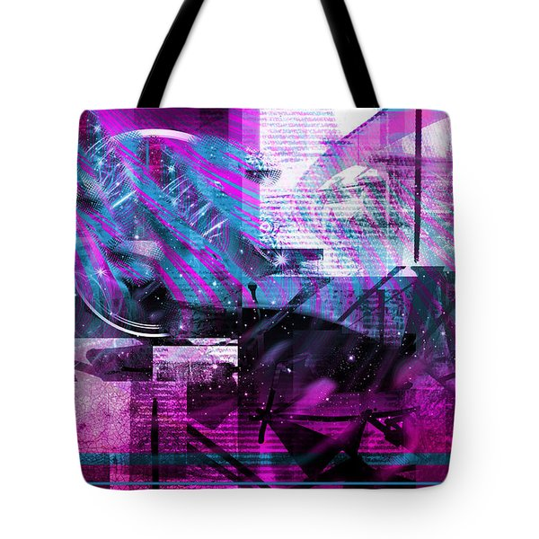 Tote Bag featuring the digital art Sketching Flying Stars.. by Art Di