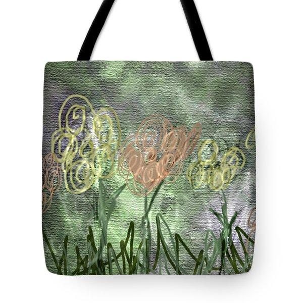 Sketchy Flowerrs Tote Bag by Gabrielle Schertz