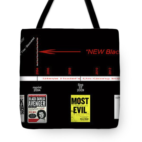 Skh Black Dahlia Inv. Time Line Tote Bag