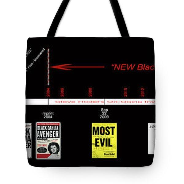 Skh Black Dahlia Inv. Time Line Tote Bag
