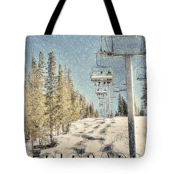 Ski Colorado Tote Bag by Juli Scalzi
