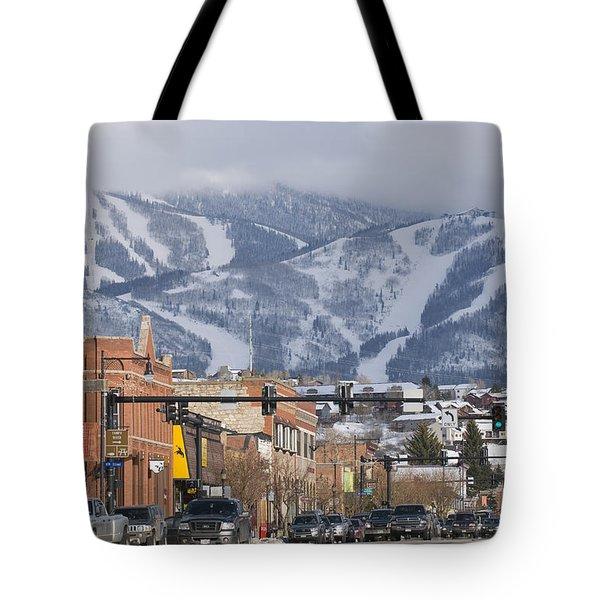 Ski Resort And Downtown Steamboat Tote Bag