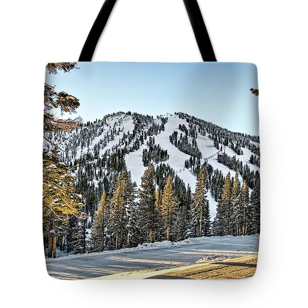 Ski Runs Tote Bag