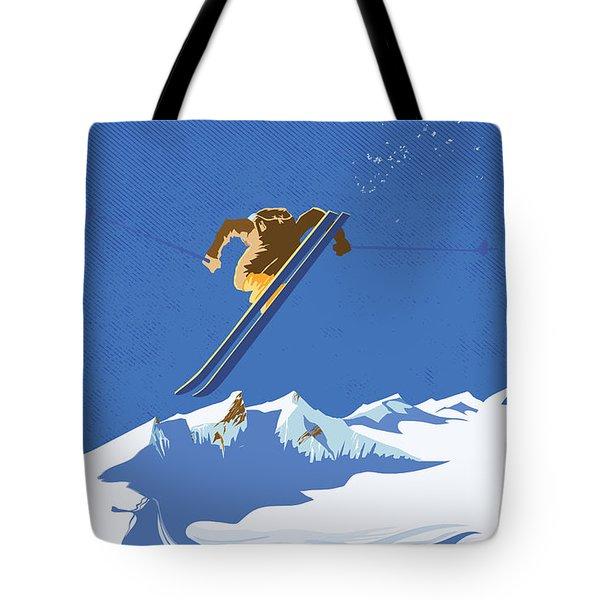 Sky Skier Tote Bag