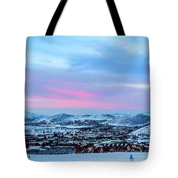 Ski Town Tote Bag