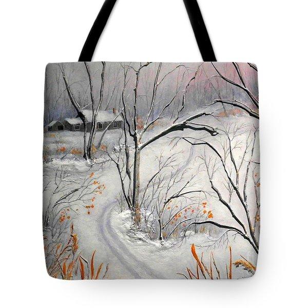 Ski Trail Tote Bag