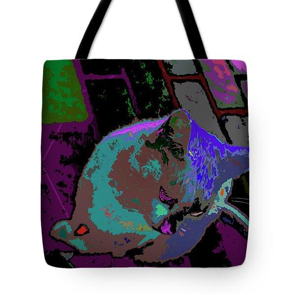 Skid Row Kitten Tote Bag