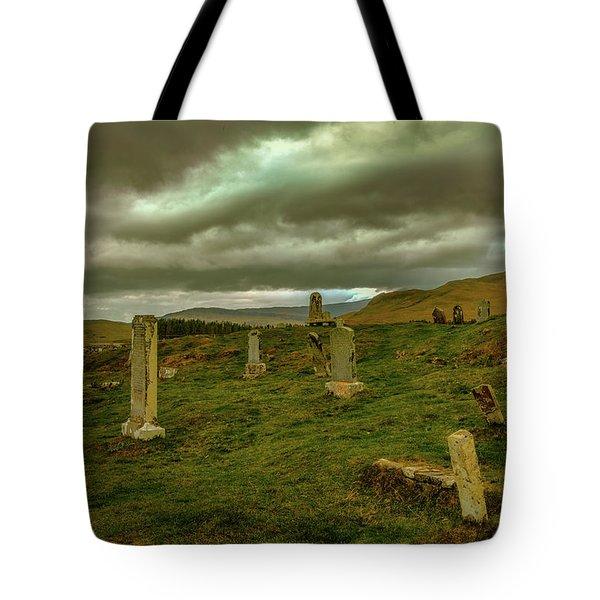 Skies And Headstones #g9 Tote Bag