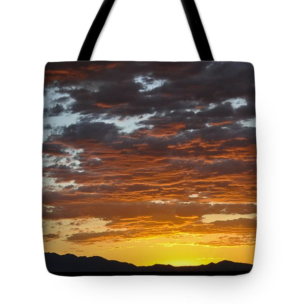 Tote Bag featuring the photograph Skies Of Gold by Gina Savage