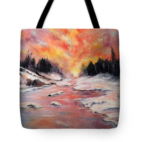 Skies Of Mercy Tote Bag by Meaghan Troup