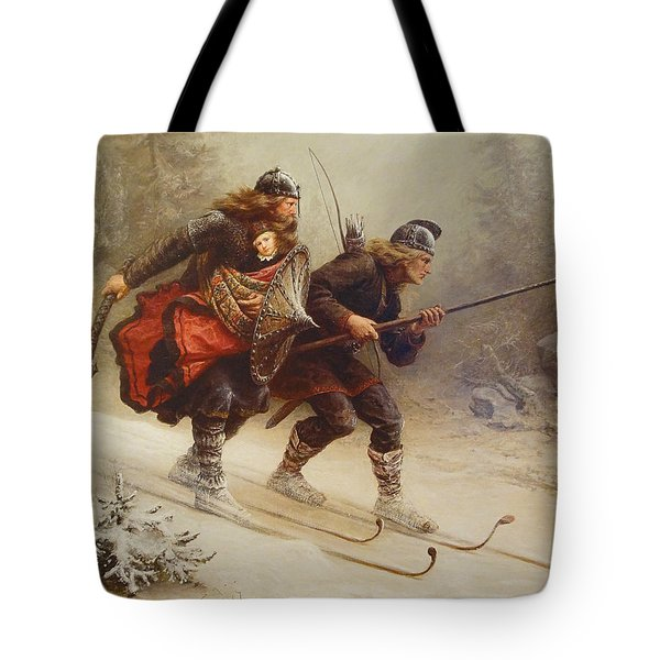 Skiing Birchlegs Crossing The Mountain With The Royal Child Tote Bag