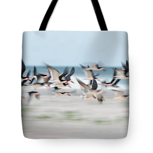 Skimmer Flock Tote Bag