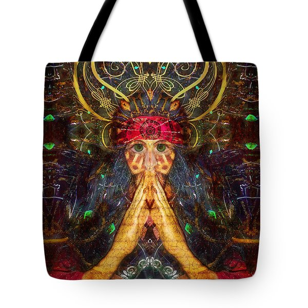 Tote Bag featuring the digital art Skin Graft Hieroglyphics by Rhonda Strickland