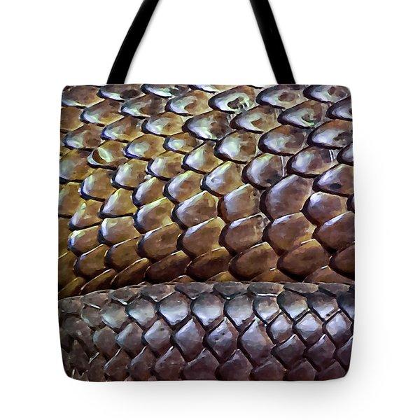 Tote Bag featuring the photograph Skin Of Inland Taipan by Miroslava Jurcik