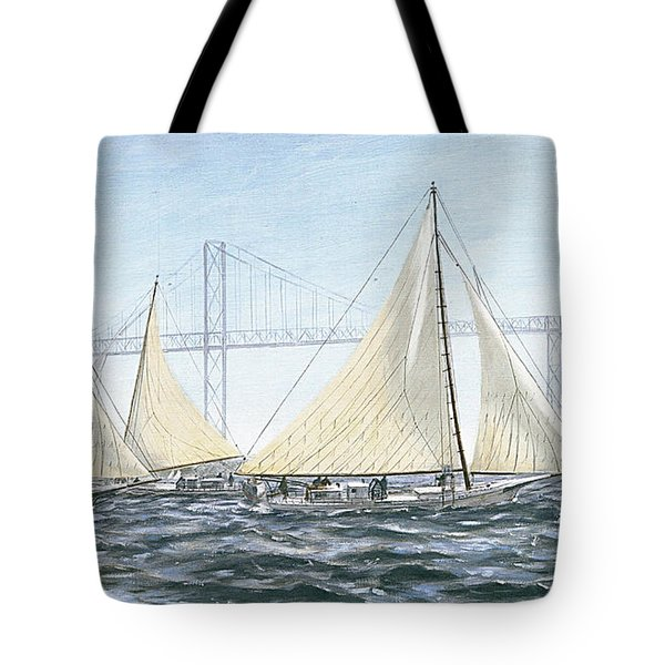 Skipjacks Racing Chesapeake Bay Maryland Detail Tote Bag