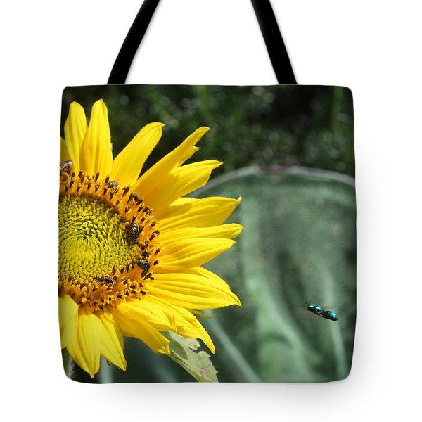Skipping Spring Tote Bag by Ismael Cavazos