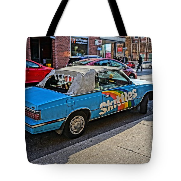 Skittles Car Tote Bag