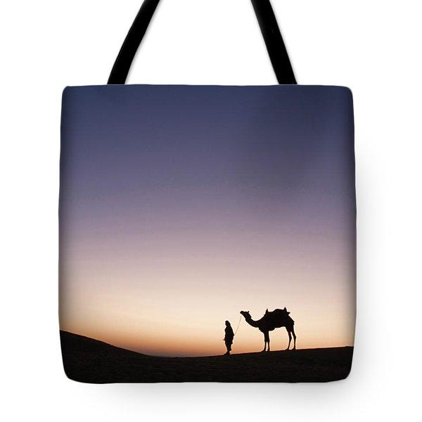 Skn 0860 Dawn At The Dunes Tote Bag by Sunil Kapadia