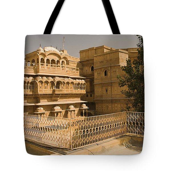 Skn 1231 Kingly Jharokhas Tote Bag